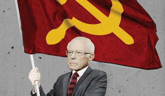 Illustration on the Communist, Bernie Sanders by Linas Garsys/The Washington Times