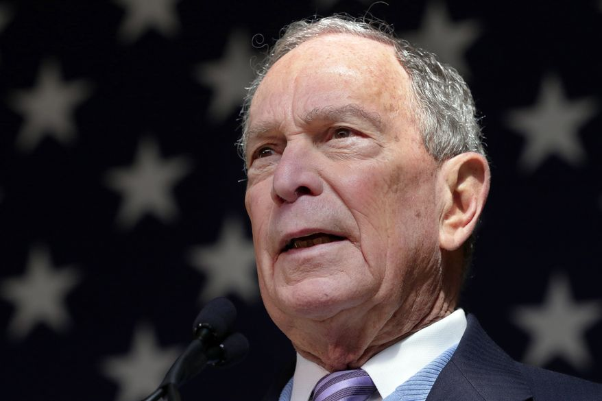 Democratic presidential candidate former New York City Mayor Mike Bloomberg speaks during a campaign event at The Rustic Restaurant, Thursday, February 27, 2020, in Houston. (AP Photo/Michael Wyke)