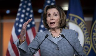 Speaker of the House Nancy Pelosi, D-Calif., speaks during a news conference on Capitol Hill in Washington, Thursday, Feb. 27, 2020. (AP Photo/J. Scott Applewhite)
