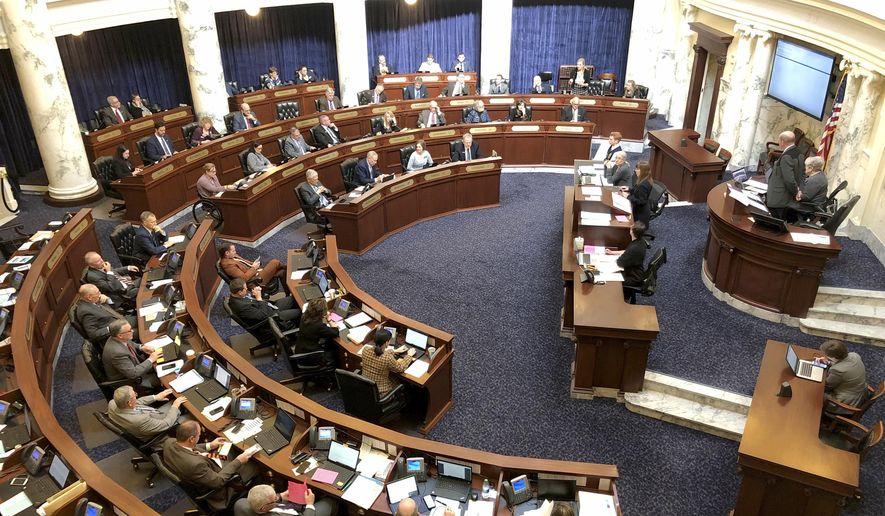 The Idaho House of Representatives debates legislation in the Idaho Statehouse in Boise, Idaho, Thursday, Feb. 27, 2020. (AP Photo/Keith Ridler) ** FILE **