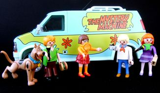 The Mystery Machine with Scooby-Doo, Shaggy Rogers, Velma Dinkley,Fred Jones and Daphne Blake from Playmobil's Scooby-Doo collection. (Photograph by Joseph Szadkowski / The Washington Times)