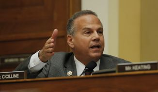 Rep. David Cicilline, D-R.I., speaks during a House Foreign Affairs Committee hearing in Washington, Friday, Feb. 28, 2020, where Secretary of State Mike Pompeo is testifying. (AP Photo/Carolyn Kaster) ** FILE **