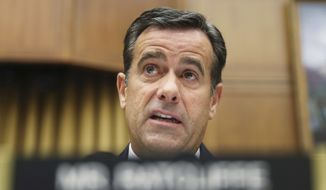 In this Wednesday, July 24, 2019, file photo, Rep. John Ratcliffe, R-Texas., questions former special counsel Robert Mueller as he testifies before the House Intelligence Committee hearing on his report on Russian election interference, on Capitol Hill in Washington. President Donald Trump has nominated Ratcliffe again to be nation's top intelligence official. (AP Photo/Andrew Harnik, File)