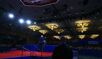 President Donald Trump speaks at the Conservative Political Action Conference, CPAC 2020, at National Harbor, in Oxon Hill, Md., Saturday Feb. 29, 2020. (AP Photo/Jacquelyn Martin)