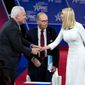 Ivanka Trump, seen here shaking hands with Matthew Schlapp, chairman of the American Conservative Union, was one of the names activists floated for leading the party in a post-Trump world.