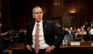 Sen. Thom Tillis is facing some fierce competition from Democrats in his reelection campaign. The first-term senator has President Trump's endorsement. (Associated Press)