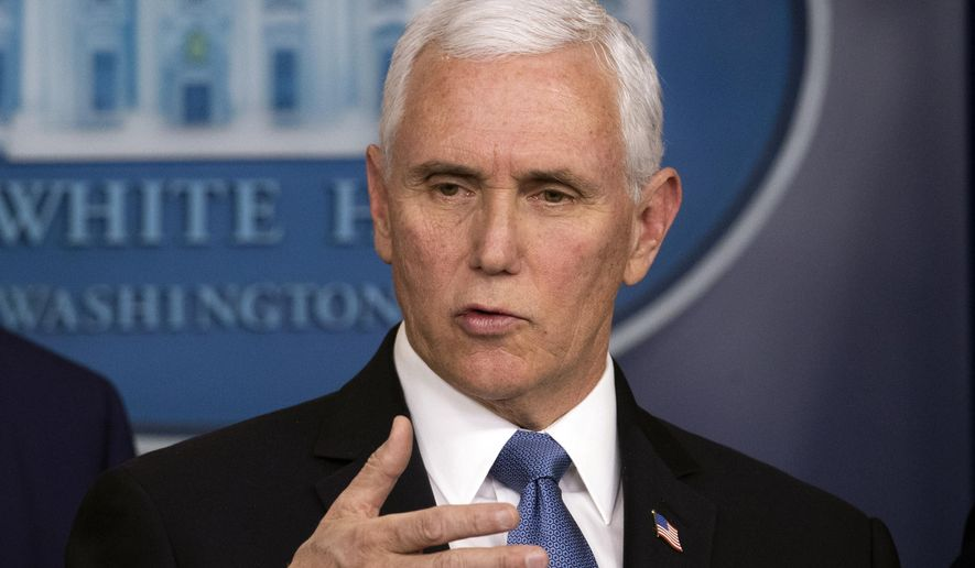 Vice President Mike Pence speaks during a news conference with President Donald Trump on coronavirus in the press briefing room at the White House, Saturday, Feb. 29, 2020, in Washington. (AP Photo/Andrew Harnik)