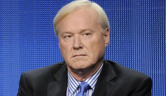 """This Aug. 2, 2011, file photo shows MSNBC host Chris Matthews takes part in a panel discussion at the NBC Universal summer press tour in Beverly Hills, Calif. Matthews announced his retirement on his political talk show """"Hardball with Chris Matthews"""" on Monday, March 2, 2020. (AP Photo/Chris Pizzello, File)"""