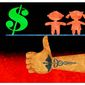 Illustration on the impact of one payer medicine on long-term care by Alexander Huunter/The Washington Times