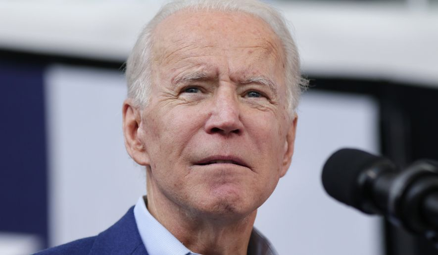 Democratic presidential candidate former Vice President Joe Biden speaks during a campaign rally Thursday, March 2, 2020, at Texas Southern University in Houston. (AP Photo/Michael Wyke)