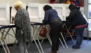 Voters cast their ballots in the state's Democratic presidential primary election, Tuesday, March 3, 2020 at Aberdeen Elementary School in Hampton, Va. (Jonathon Gruenke/The Virginian-Pilot via AP) ** FILE **