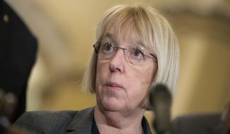 Sen. Patty Murray, D-Wash., speaks about the coronavirus during a media availability on Capitol Hill, Tuesday, March 3, 2020 in Washington. (AP Photo/Alex Brandon)