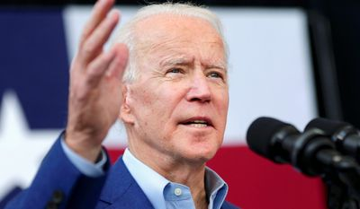 """Democrat Joseph R. Biden claimed victory on Super Tuesday. CNN noted he made a """"historic and unbelievable political comeback."""" (Associated Press)"""