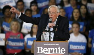Democratic presidential candidate Sen. Bernie Sanders, I-Vt., speaks at a campaign rally Thursday, March 5, 2020, in Phoenix. (AP Photo/Ross D. Franklin)
