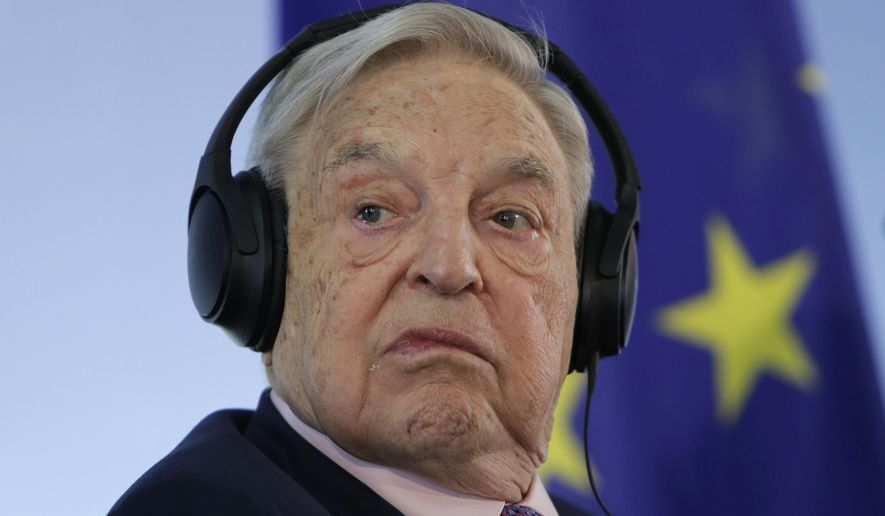 Hungarian-American investor and CEU founder George Soros attends a press conference at the Foreign Ministry in Berlin, Germany, June 8, 2017. (AP Photo/Ferdinand Ostrop, File)