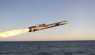 U.S. military officials plan on adapting the Naval Strike Missile to the Marine Corps' need for a ground-based missile system that can track moving ships. (Image: Raytheon, Naval Strike Missile information page)