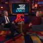 """Hillary Clinton speculated about what she believes President Trump is """"hiding"""" in the tax returns he refuses to release to Congress during the after-show segment of Bravo's """"Watch What Happens Live"""" on March 5, 2020. (Bravo)"""