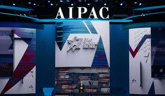 Vice President Mike Pence speaks at the the American Israel Public Affairs Committee (AIPAC) 2020 Conference, Monday, March 2, 2020 in Washington. (AP Photo/Alex Brandon)