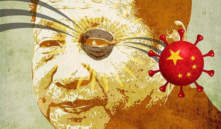 Xi Jinping Black Eye Illustration by Greg Groesch/The Washington Times