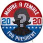 2020 Female President Campaign Button Illustration by Greg Groesch/The Washington Times