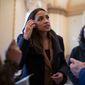 Rep. Alexandria Ocasio-Cortez, New York Democrat, hasn't been tending to her constituents enough, critics and political challengers say. (Associated Press)