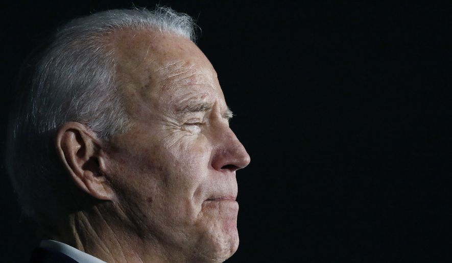 Democratic presidential candidate and former Vice President Joe Biden speaks at Tougaloo College in Tougaloo, Miss., Sunday, March 8, 2020. (AP Photo/Rogelio V. Solis)  ** FILE **