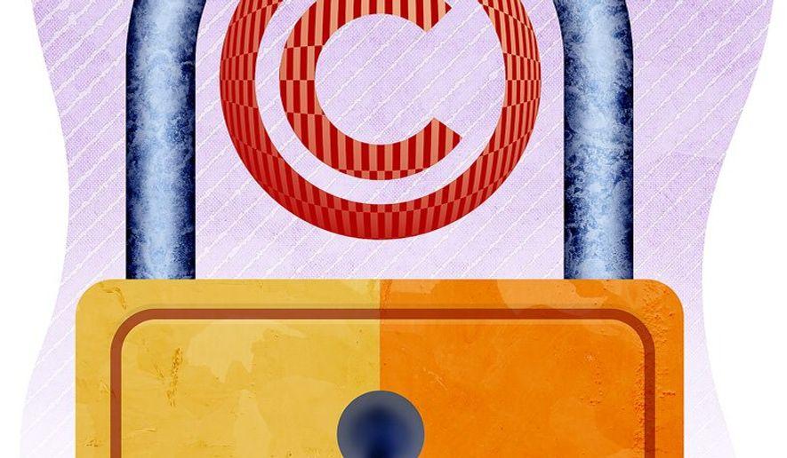 Copyright Lock Illustration by Greg Groesch/The Washington Times