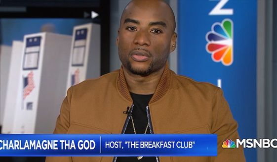 """New York Times bestselling author and nationally syndicated radio host Charlamagne Tha God lamented Monday, March 9, 2020, that Democratic presidential frontrunners Joe Biden and Bernie Sanders """"don't have a specific black agenda."""""""