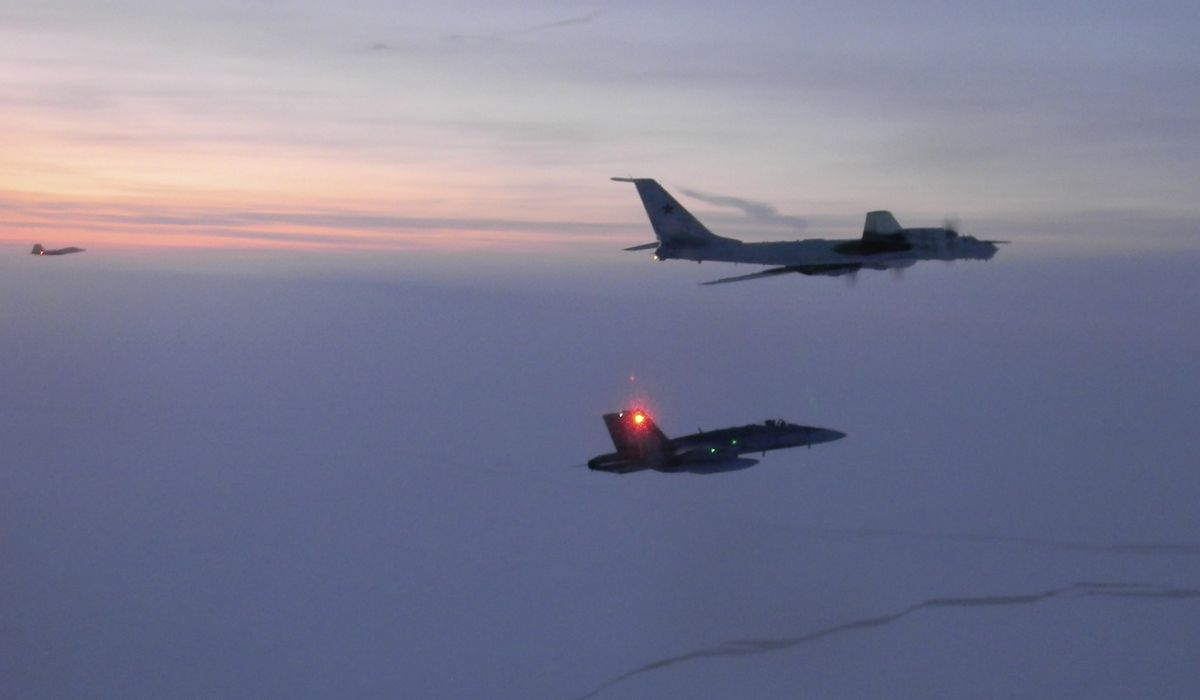 Russian aircraft intercepted approaching U.S. air space