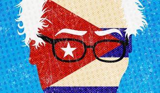 Bernie Sanders illustration by  The Washington Times