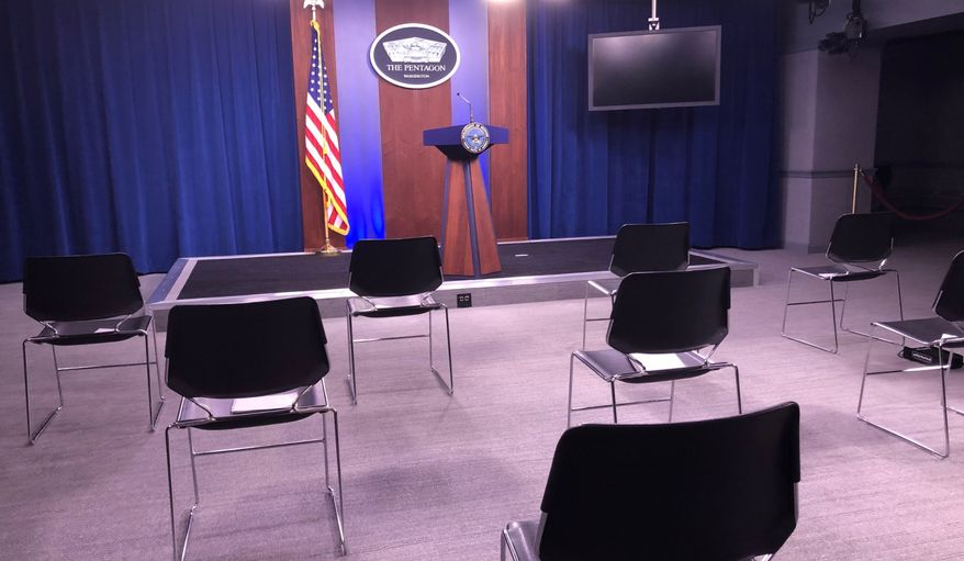 Social distancing at The Pentagon. Photo: Mike Glenn/The Washington Times