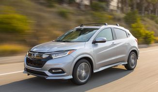This photo provided by Honda shows the Honda HR-V, a subcompact crossover. (Courtesy of American Honda Motor Co. via AP)