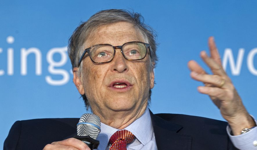 In this April 21, 2018, file photo, Bill Gates speaks in Washington. Microsoft co-founder Bill Gates said Friday, March 13, 2020, he is stepping down from the company's board to focus on philanthropy. Gates was Microsoft's CEO until 2000 and since then has gradually scaled back his involvement in the company he started with Paul Allen in 1975. (AP Photo/Jose Luis Magana, File)
