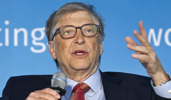 In this April 21, 2018, file photo, Bill Gates speaks in Washington. (AP Photo/Jose Luis Magana, File)