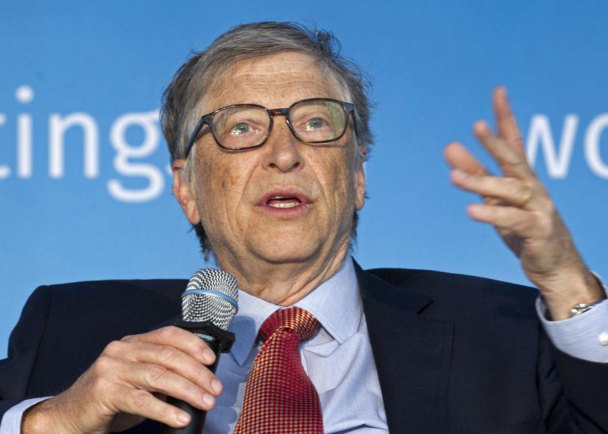 In this April 21, 2018, file photo, Bill Gates speaks in Washington. (AP Photo/Jose Luis Magana, File)