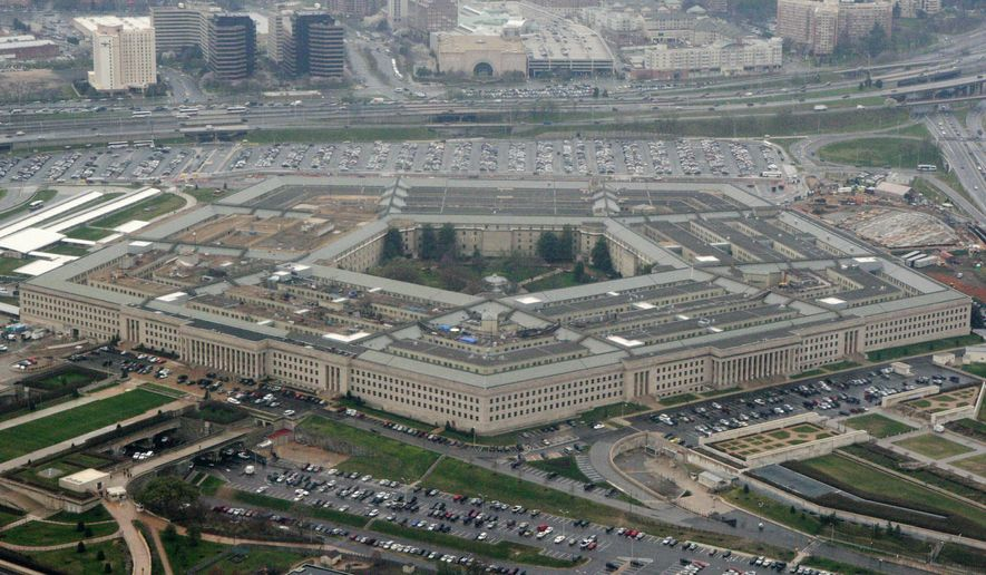 This March 27, 2008, aerial file photo, shows the Pentagon in Washington. (AP Photo/Charles Dharapak, File) ** FILE **