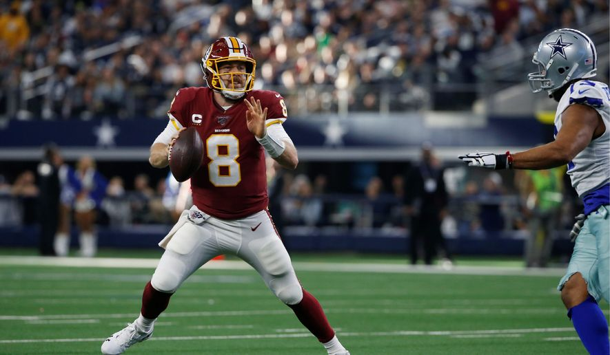 Free agent quarterback Case Keenum is leaving the Redskins for a three-year, $18 million deal with the Browns. (ASSOCIATED PRESS)