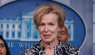 Dr. Deborah Birx, White House coronavirus response coordinator, was named to the task force last month. During a press conference Monday, she said millennials are key in the fight against the coronavirus. (Associated Press)
