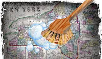 Cleaning Up Coronavirus in New York Illustration by Greg Groesch/The Washington Times