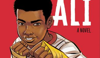 "This image provided by JIMMY Patterson Books and Houghton Mifflin Harcourt shows the cover of ""Becoming Muhammad Ali,"" by James Patterson and Kwame Alexander. (JIMMY Patterson Books and Houghton Mifflin Harcourt via AP)"