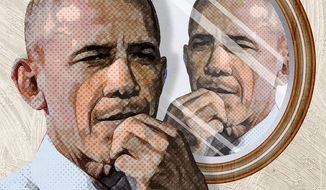 Meeting One's Self Illustration by Greg Groesch/The Washington Times