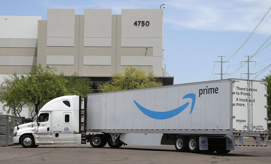 Amazon said Tuesday, March 17, 2020,  that it will only accept from suppliers shipments of cleaning equipment, medical supplies and household goods at its warehouses for next three weeks to fill surging demand of those items.(AP Photo/Ross D. Franklin, File)