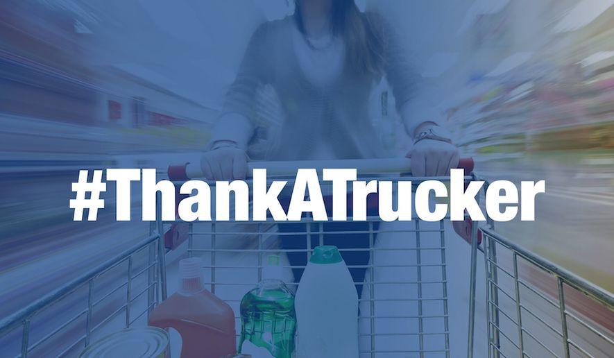 Hashtag image courtesy of the American Trucking Association.