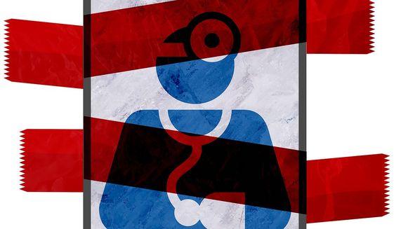 Telemedicine Regulation Illustration by Greg Groesch/The Washington Times