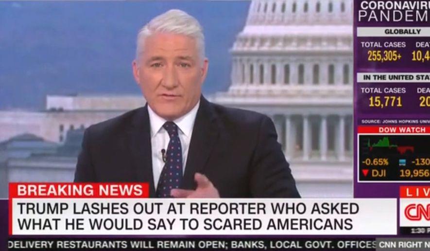 CNN's John King discusses President Trump's treatment of reporters, March 20, 2020. (Image: CNN video screenshot)