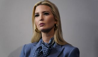 Ivanka Trump, the daughter and assistant to President Donald Trump, listens during a coronavirus task force briefing at the White House, Friday, March 20, 2020, in Washington. (AP Photo/Evan Vucci)
