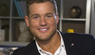 """In this Wednesday, March 13, 2019, file photo, Colton Underwood from the reality series, """"The Bachelor,"""" appears during an interview in New York. (AP Photo/Gary Gerard Hamilton, File)"""