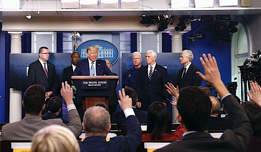 Media Blackout: The call has gone out from journalists and commentators that President Trump's press briefings on coronavirus pandemic should no longer be broadcast live. (Associated Press)