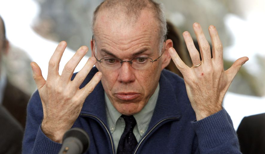 Environmental activist Bill McKibben speaks to the House Natural Resources and Energy Committee at the Statehouse in Montpelier, Vt., Tuesday, Feb. 7, 2012. For years McKibben has been an outspoken advocate for environmental causes. Most recently he's has spoken against a now-delayed plan to build an oil pipeline from Canada to refineries along the Gulf of Mexico..(AP Photo/Toby Talbot)