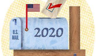 2020 Mail Ballot Illustration by Greg Groesch/The Washington Times